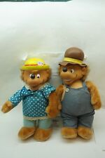 BERENSTAIN BEARS PLUSH TOYS DOLLS MAMA PAPA EMOTIONS 13in PAIR PLASTIC HEADS d