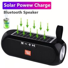 Bluetooth Wireless Waterproof Portable Solar Charging Speaker Column Stereo Box