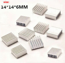10x Extruded Aluminum Heatsink 14x14x6mm Fo Chip CPU GPU VGA RAM LED IC Radiator