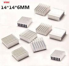 10x Extruded Aluminum Heatsink 14x14x6mm Fo Chip CPU GPU VGA RAM LED IC Radiator