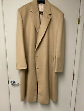 Men's 100% Cashmere Overcoat 52R Cardinal of Canada for Nordstrom - Camel Color