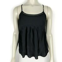 Madewell Women's Solid Black Cami Sleeveless Tank Top Blouse Size: Small