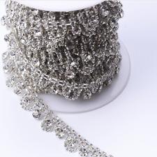 1M Rhinestone Chain Flower Trim Crystal Diamante Ribbon Wedding Accessories DIY