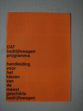 DAF  Production program  brochure / Prospekt  1964.