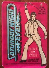 1977 John Travolta - Saturday Night Fever -Trading Donruss unopened pack