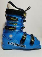 Lange Team 8 Junior Ski Snow Boots Blue Size 24.5 286 mm