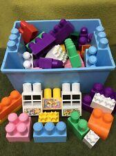 Mega Bloks Ritvik First Builders 51 PC Fairy Tale Pink/Purple Blocks Girls
