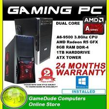 AMD Dual Core A6 9500 3.8GHz Gaming PC Computer 8GB ram 1Tb HDD R5 GFX WIN10  FF