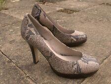 office leather platform snakeskin heels 7