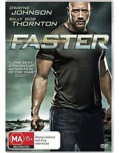 FASTER DVD DWAYNE JOHNSON 2010 BRAND NEW UNSEALED REGION 4 FAST POST
