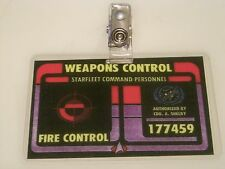 Star Trek ID Badge - Weapons Control - Costume Or Prop ID Badge