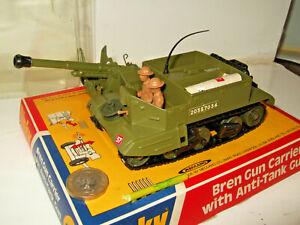 Vintage Rare Dinky 619 Bren Gun Carrier & Anti Tank Gun & Blister Pack & Shells