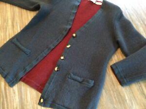Valentino Vintage Knit Cashmere Sweater Cardigan Women's Sz S