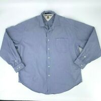 Tommy Hilfiger Button Up Shirt Men's XL Blue Long Sleeve Classic Fit Collared