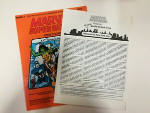 Marvel Super Heroes Judge's Screen with New York Guide. MHAC-1. 6852