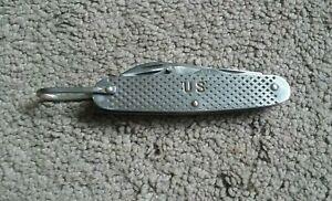 Vintage 1967 Vietnam US Camillus Military Utility 4-blade Pocket Knife( CLEAN )
