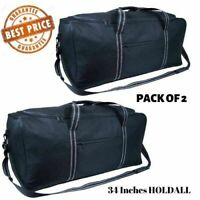 """Extra Large Holdall 34"""" Inch Sports Duffle Bag Lightweight Luggage PACK OF 2"""