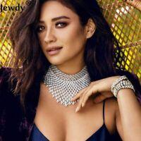 Elegant Necklace Crystal Rhinestone Choker Lady Luxury Statement Wedding Jewelry