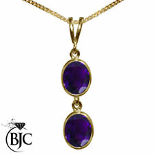 Oval Yellow Gold Amethyst Fine Necklaces & Pendants