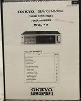 Original Onkyo Model TX-61 Quartz Synthesized Tuner Amplifier Service Manual