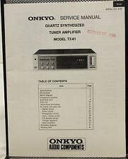Original Onkyo Model TX-61 Quartz Synthesized Tuner Amplifier Service Manual