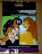Disney Pins Good VS Evil  5 PINS Collectible PIN PACK Mystery NEW FREE SHIPPING
