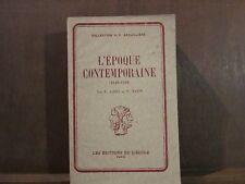 L'EPOQUE CONTEMPORAINE (1848-1939), E.JARRY, P.MAZIN