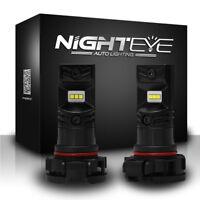 NIGHTEYE 160W H16 EU LED Fog Light Bulbs DRL Replace Halogen Lamp Xenon White