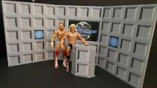 wwf wcw wwe upgrade classic interview w/podium  for wrestling figures