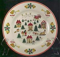 The Joy of Christmas Dinner Plate Jamestown China Porcelain Dinnerware Vintage