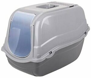 Cat Litter Box Flip Cat Litter Tray Dark Grey Box Hooded Toilet Pet Litter Tray
