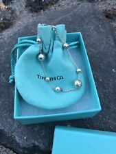 Tiffany & Co Hammered Picasso Bead Ball Chain Bracelet Sterling Silver RARE!