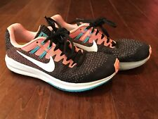 Nike 849577-001 Air Zoom Structure 20 Black White Lava Women's Running Shoes 7.5