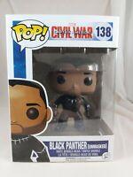 Marvel Funko Pop - Black Panther (Unmasked) - Civil War - No. 138