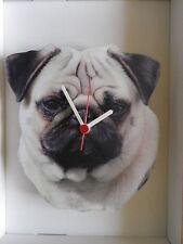 Pug Dog Wall Clock. New & Boxed.