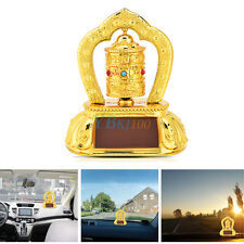 Tibetan Tibet Buddhist Solar Energy Spinning Prayer Wheel Auto Car Interior Set
