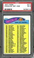 1977 topps #417 CHECKLIST 397-528 PSA 5
