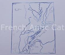 Ancien tampon scolaire métal géographie montagne Vosges Jura 19*14 AA040