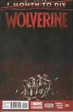 WOLVERINE #12 (2014) 1 MONTH TO DIE MARVEL COMICS