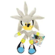 New Silver Sonic The Hedgehog Action Figure Gift Stuffed Plush Soft Doll Toy 11""