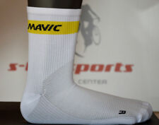 Mavic Cosmic Mid Basic Bicycle Socks Lightweight Breathable Summer White %%%