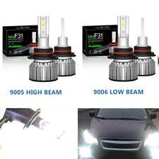 4x Combo CSP LED 9005 + 9006 Headlights for Chevy Tahoe Silverado 1500 2003-2006