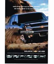 2001 Chevrolet Chevy AVALANCHE Blue SUV Pickup Truck Vtg Print Ad