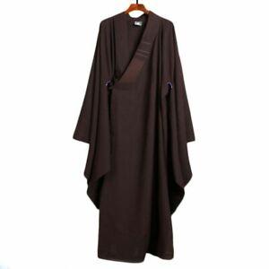Meditation Long Coat Buddhist Clothes Monk Robe Shaolin Suit Kung Fu Clothing