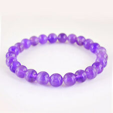 72.05 CTS NATURAL ROUND SHAPE RICH PURPLE AMETHYST UNTREATED BEADS BRACELET