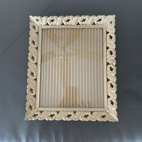Vintage Gold Tone Metal Picture Frame Wall Decor 8x10