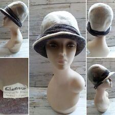 """Vintage 1940/50's """"GLAMOUR"""" hat designed by Dolores London/Paris. Size 50cm."""