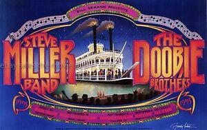 Steve Miller Band Doobie Brothers original  1995 Concert Poster