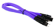 Purple Front Panel Set HDD LED/PLED/Reset/Power/SW/SPK Extension Cable Braided