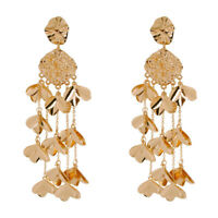 18K Gold Plated Dreamcatcher Tassel Earrings For Fashion Women Jewelry Gifts